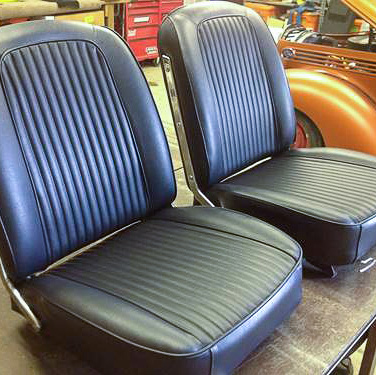 leather upholstery seats in knish kustomz shop