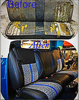 before and after upholstery bench seat
